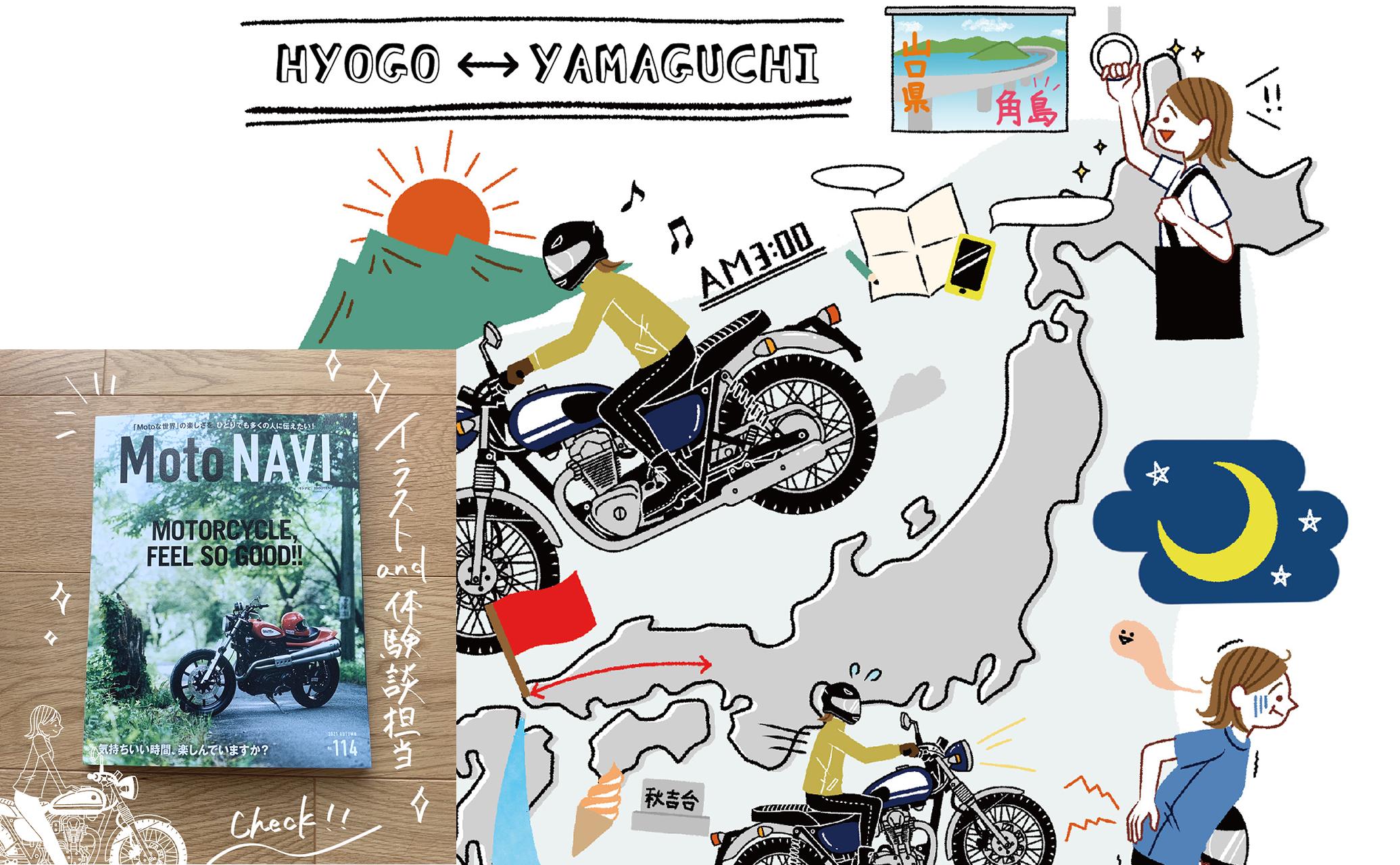 バイク雑誌に掲載されたイラスト